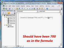 convert ms excel formula to vba code youtube