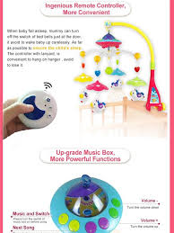 minitudou baby toys 0 12 months crib mobile musical bed bell with