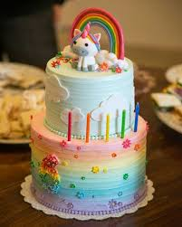 and rainbow birthday cake rainbow clouds