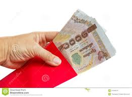 new years envelopes holding envelopes with money stock images image 37440574