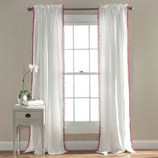 pom pom single curtain panel curtains pinterest window