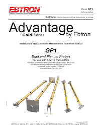 gold series p probe manual