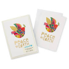 unicef peace on earth cards box of 12 boxed cards