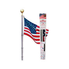 American Flag With 13 Stars In A Circle Flags U0026 Flag Poles Outdoor Decor The Home Depot