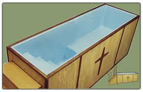 portable baptismal tank what is a baptistery where should it be located catholic news