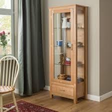 Curio Display Cabinets Uk Oak Display Cabinets Wayfair Co Uk