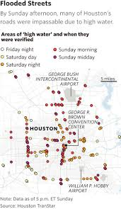 Map Houston Airport Harvey Floods Houston Strands Thousands Wsj
