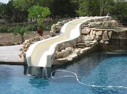 Backyard Pool With Slide - water slides and other pool add ons u2013 modern pool designs by