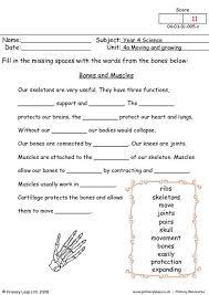 primaryleapcouk bones and muscles worksheet muscle worksheet