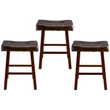 Bar Stool Sets Of 3 Padded Wood Stools 3 Pack Shopko