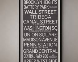 Bus Blind Art New York City Vintage Bus Roll Sign Nyc Subway Sign New York