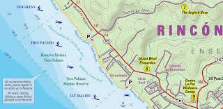 Where Is Puerto Rico On A Map by Rincon Puerto Rico Lizard Map Surf Break Beach U0026 Vacation Guide
