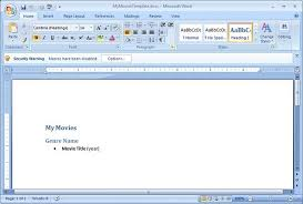 How To Use Resume Template In Word 2007 Using Php To Create A Word 2007 Document