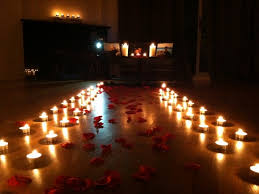 romantic candles and roses bedroomrose petal path candle light
