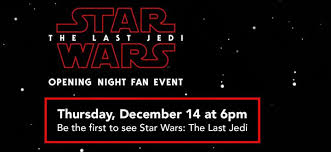 opening night fan event star wars the last jedi opening night fan event star wars the last jedi at marcus