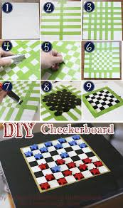 diy checkerboard game checkers board game board and gaming