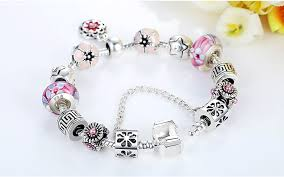 diy crystal bead bracelet images Crystal beads diamond tibetan silver bracelet female diy beaded jpg