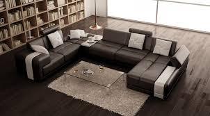 u shaped leather sofa u shaped sectional living room modern with modern leather sectional