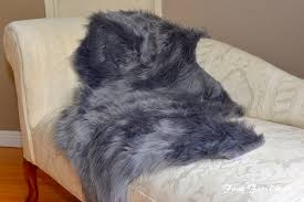 Furniture Throw Covers For Sofa by Home Living Faux Fur Decor Gray Sheepskin Couch Throw Cushions