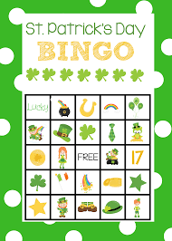 st patrick u0027s bingo cards crazy little projects