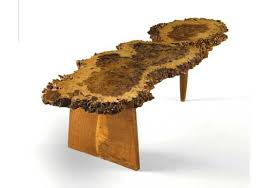 George Nakashima Desk Feature Mondays George Nakashima Slab Table In Burr Oak