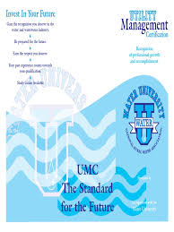 water brochure umc professional certification economies