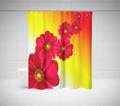 Pink And Yellow Shower Curtain by Floral Shower Curtain Roses Tulips U0026 Other Flowers