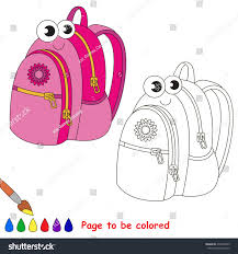 backpack be colored coloring book stock vector 472590259
