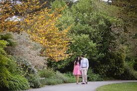 Golden Gate Botanical Garden Golden Gate Park Sutro Bath Engagement Photo Photographer San