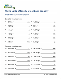 grade 4 measurement worksheets free u0026 printable k5 learning