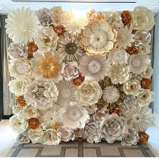 Paper Flower Paper Flower Wall Custom And Handmade To Order Id Ged1001