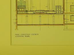 section and elevation free christian church andover ma 1909