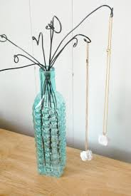 Wire Photo Display Wire And Vase Necklace Or Bracelet Display Tutorial The Beading