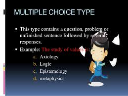 selection types of objective test