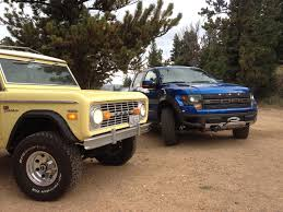 Ford Raptor Manual Transmission - ford raptor meets a 1970 ford bronco for a winching demo project