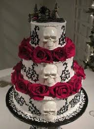 skull wedding cakes badass cake i it almost to purdy to cut