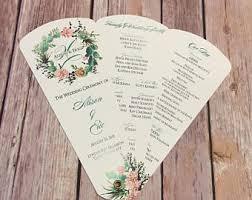 wedding program fans wedding program fan etsy