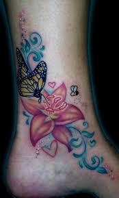 flower butterfly ankle design photos pictures and