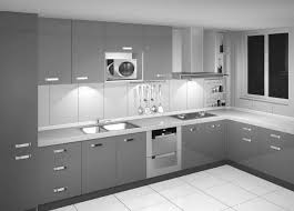 kitchen desaign minimalist modern silver kitchen cabinet designs