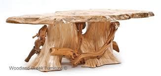 Log Side Table Cedar Log Coffee Table Cabin Cocktail Lodge Rustic