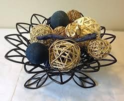 Vase Fillers Balls Jodhpuri Inc Decorative Spheres Blue Rattan Vase Filler