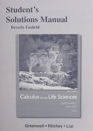 student u0027s solutions manual for calculus for the life sciences