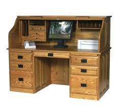 Secret Compartment Bookcase Desk Antique Roll Top Desk With Bookcase Retro Wooden Roll Top