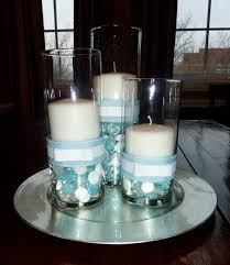communion decorations for tables boy baptism centerpiece just change the color of the pebbles and