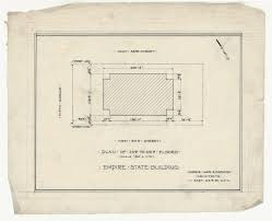 rare architectural drawings for sale the empire state building