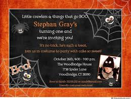 halloween not so scary birthday invitation costume party