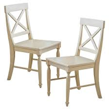 Antique Wood Chair Rovie Acacia Wood Dining Chair Antique White Set Of 2