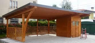 tettoia legno auto modelli box auto in legno
