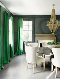 Dining Room Drapes I Love The Mix Of Green Curtains And Faux Moss Great Way Of