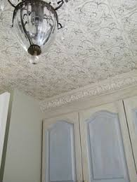 Textured Wallpaper Ceiling by Paintable Wallpaper Soooo In Love With This For My Kitchen